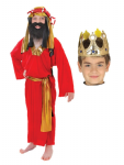 RED WISE MAN KING & CROWN NATIVITY  COSTUME AGE 4-6 YRS